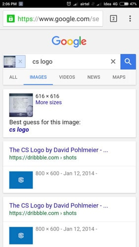 Google Reverse Image Search Ctrl Q Method Step Five