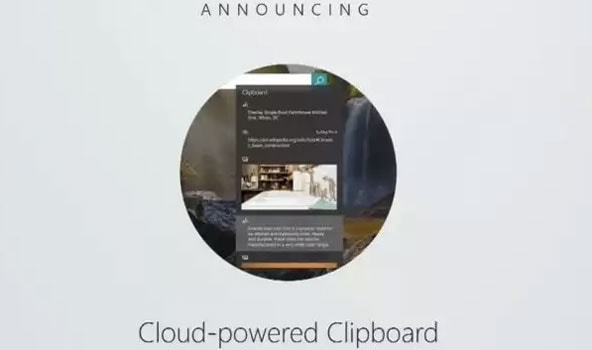 Windows Cloud Powered Clipboard
