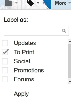 Print Emails using Google Spreadsheet