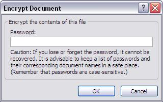 Encrypt Document Password